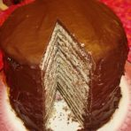Dixie Deva's 14 Layer Chocolate Cake